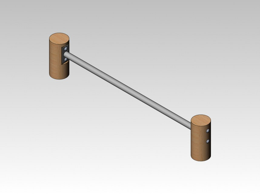3101 R - A Afbeelding Push up bar 200 mm
